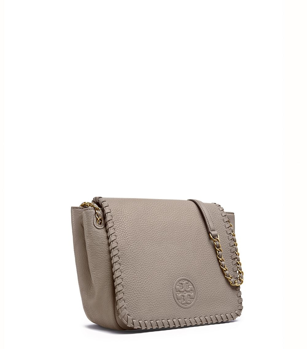 fd842c5e5f84 Tory Burch Marion Small Flap Shoulder Bag in Gray - Lyst