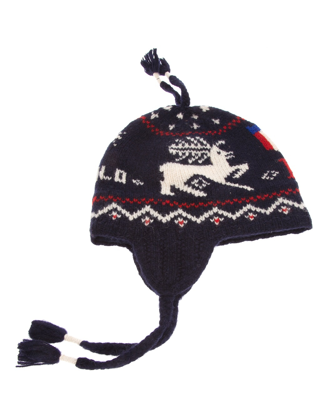 f371fcd7b10c0 Lyst - Polo Ralph Lauren Fairisle Trapper Hat in Blue for Men