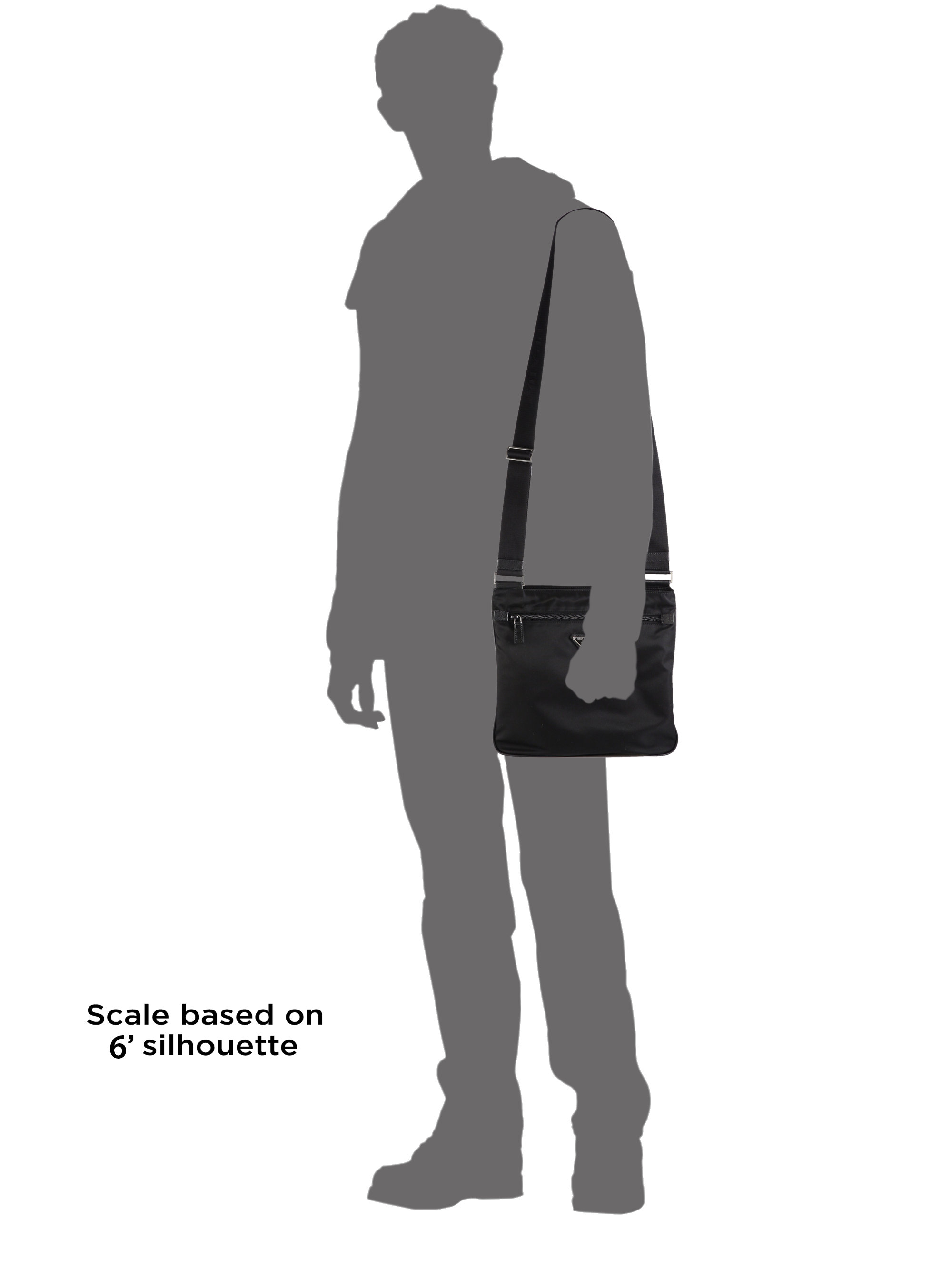 Prada Nylon Messenger Bag In Black For Men Lyst