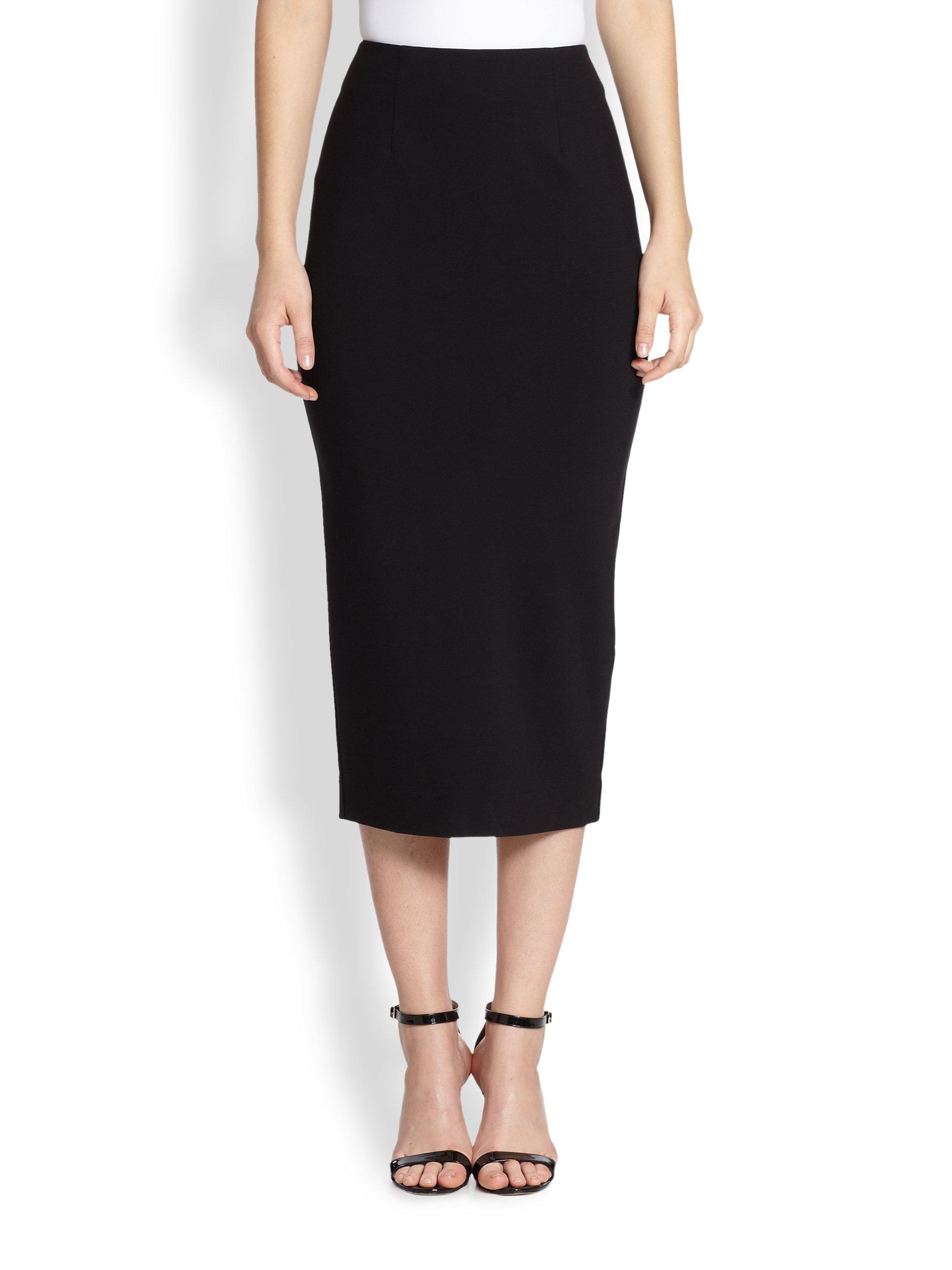 nicholas ponte pencil skirt in black lyst