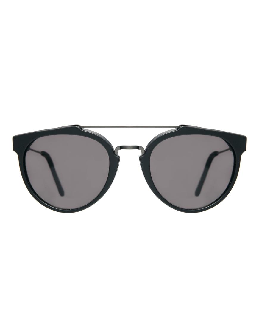 4fc9427f7515a2 Retrosuperfuture Super Giaguaro Matte Round Sunglasses in Black for ...