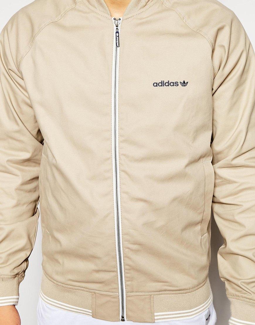 0778daedd adidas Originals Sst Fz Woven Jacket in Natural for Men - Lyst