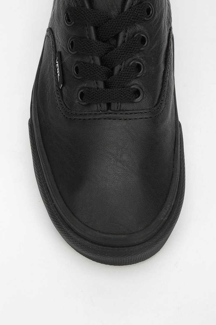 women's black authentic leather vans