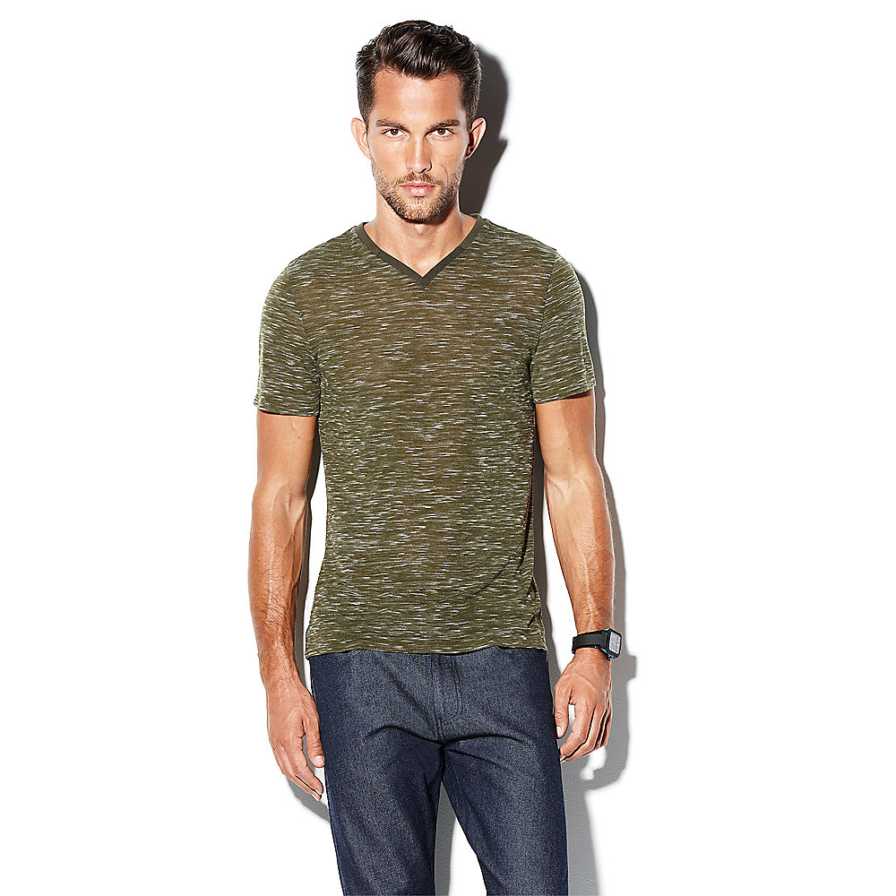 Lyst vince camuto v neck knit t shirt in green for men for Vince tee shirts sale