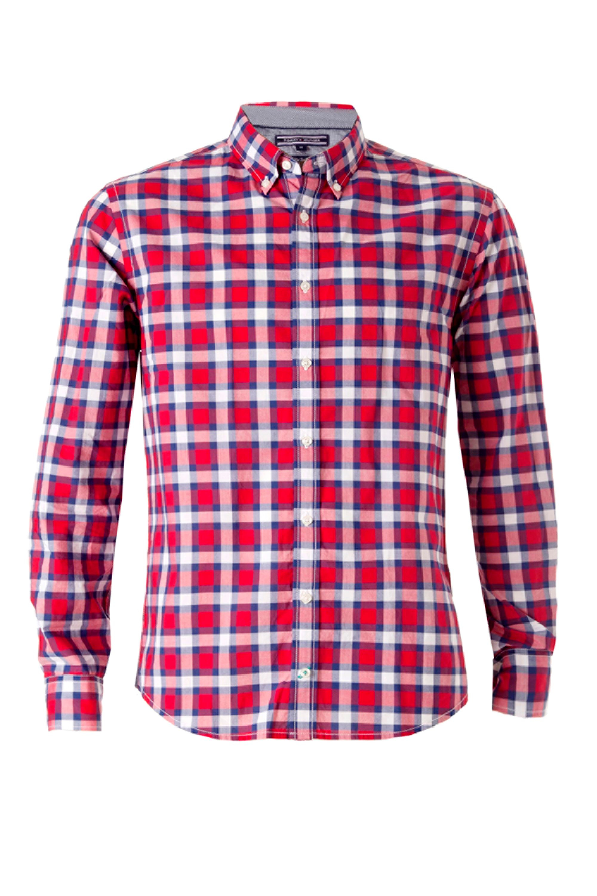 Tommy Hilfiger Koby Check Shirt In Red For Men Lyst