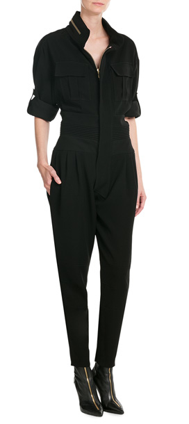 86fe3f4d0b40 Lyst - Alexandre Vauthier Jumpsuit With Zippers - Black in Black