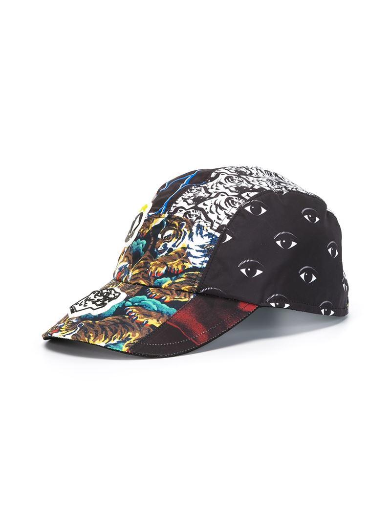 Lyst - KENZO  new Era  Multi Logo Cap in Black for Men 5127a04e8c