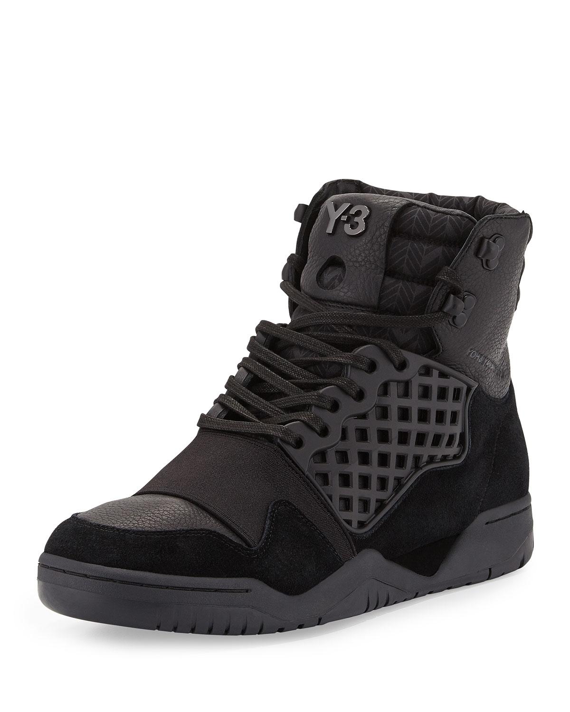 Y 3 Held Enforcer High Top Sneaker In Black For Men Lyst