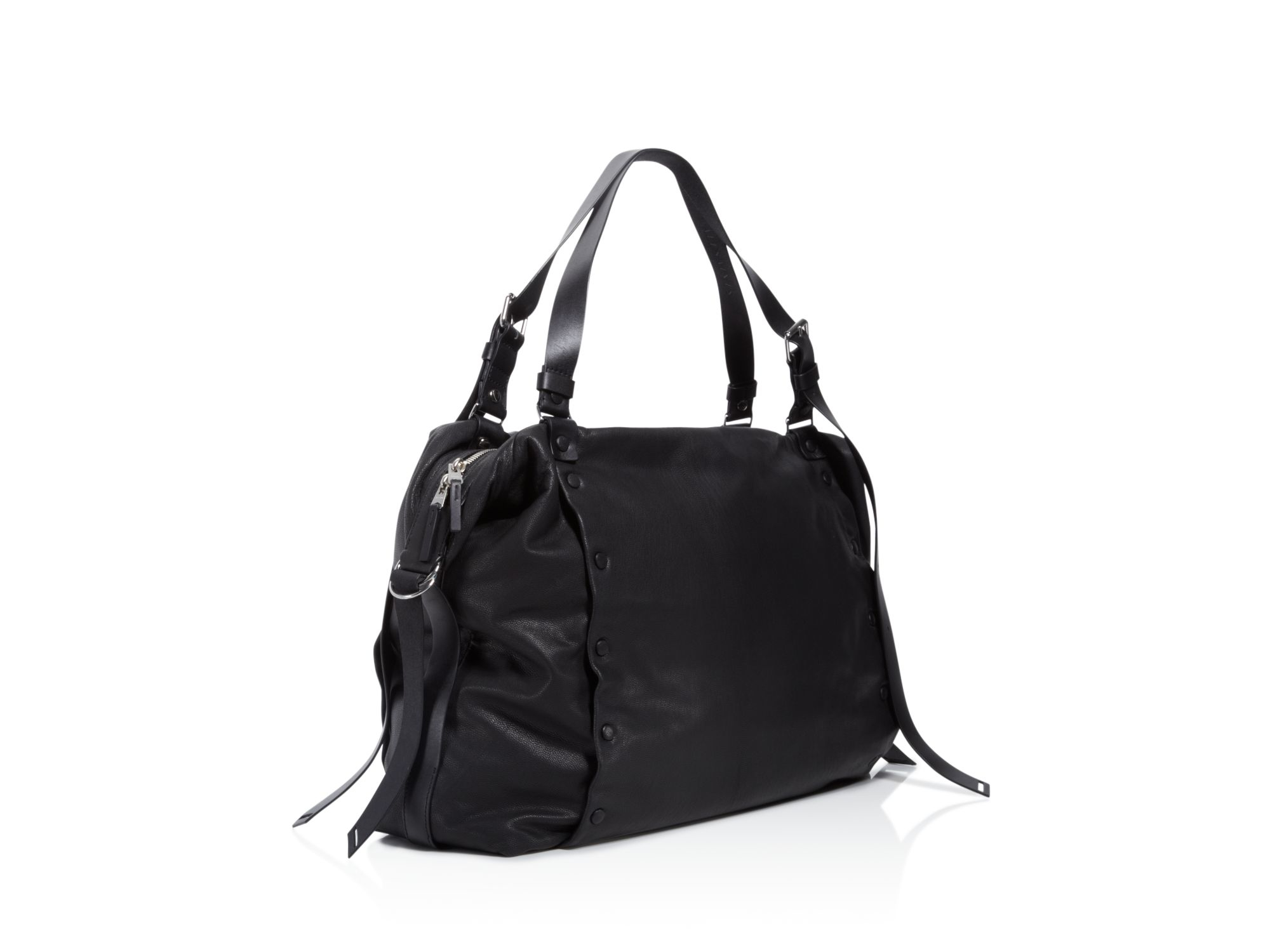 1b62b88a571f AllSaints Darling Large Bowling Bag Satchel in Black - Lyst