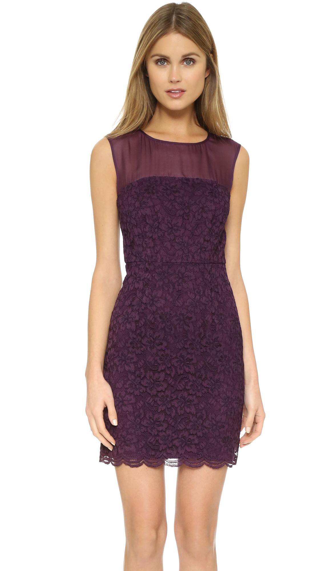 Diane von furstenberg Nisha Lace Dress in Purple | Lyst