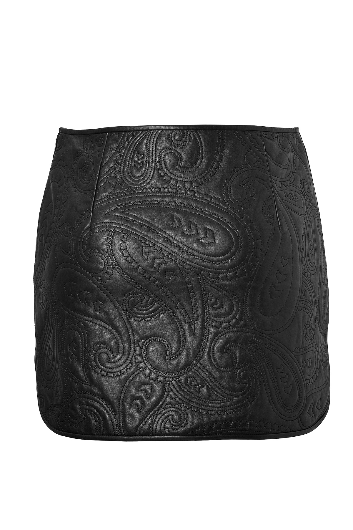 wang quilted leather skirt in black lyst