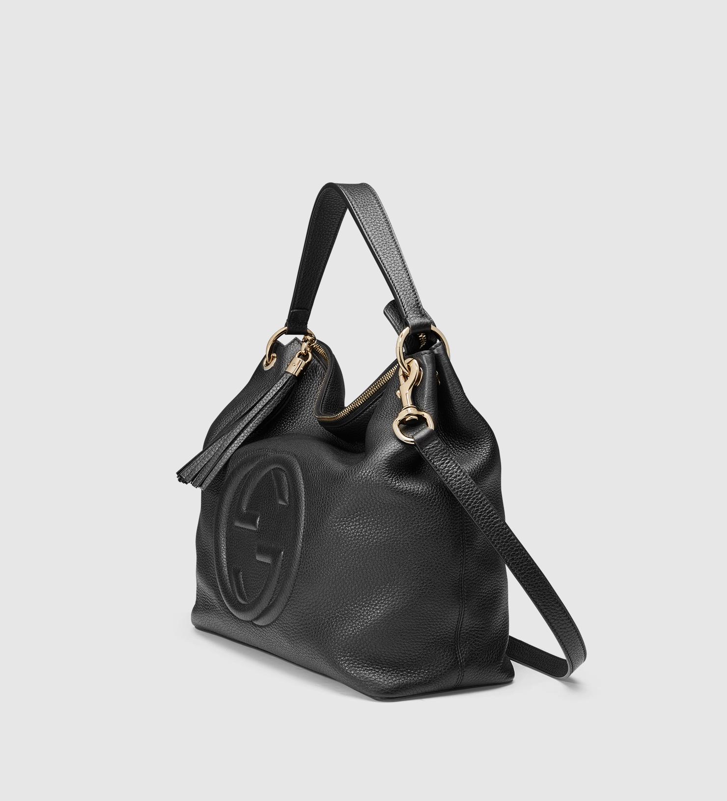 cad5f5c6db730c Gucci Soho Leather Hobo in Black - Lyst
