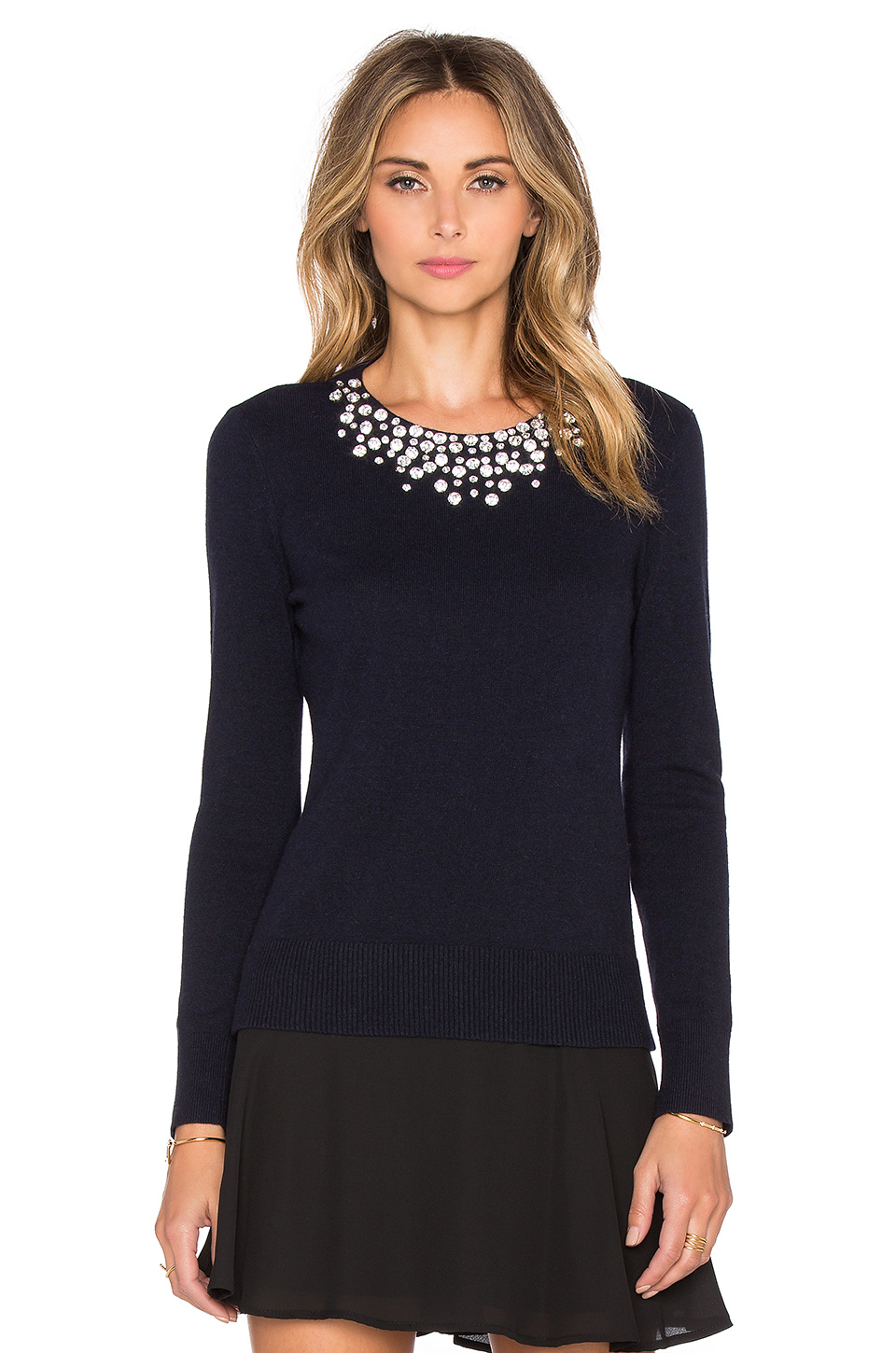 Lyst Kate Spade New York Embellished Sweater In Blue