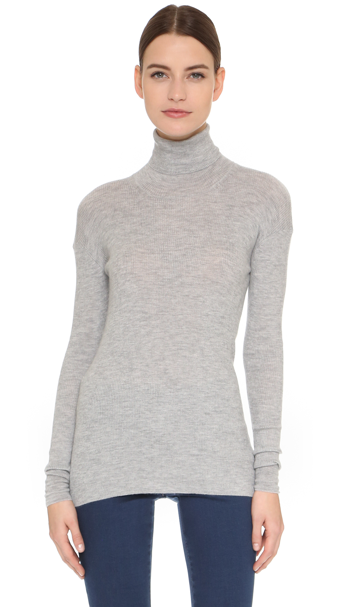 Maiyet Cashmere Turtleneck Sweater in Gray | Lyst