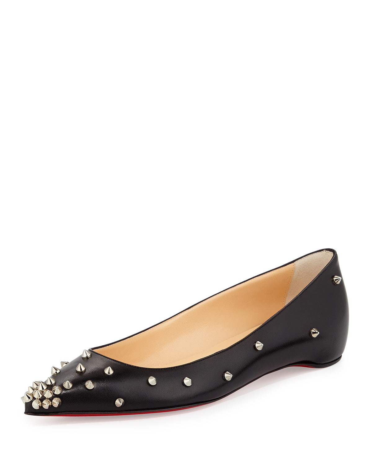 christian louboutin lace up flat pointed toe - Paraventure Paragliding