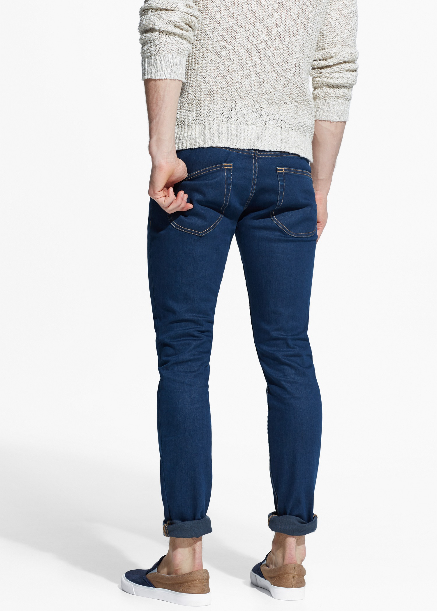 6326846f6eb Lyst - Mango Skinny Navy Jude Jeans in Blue for Men