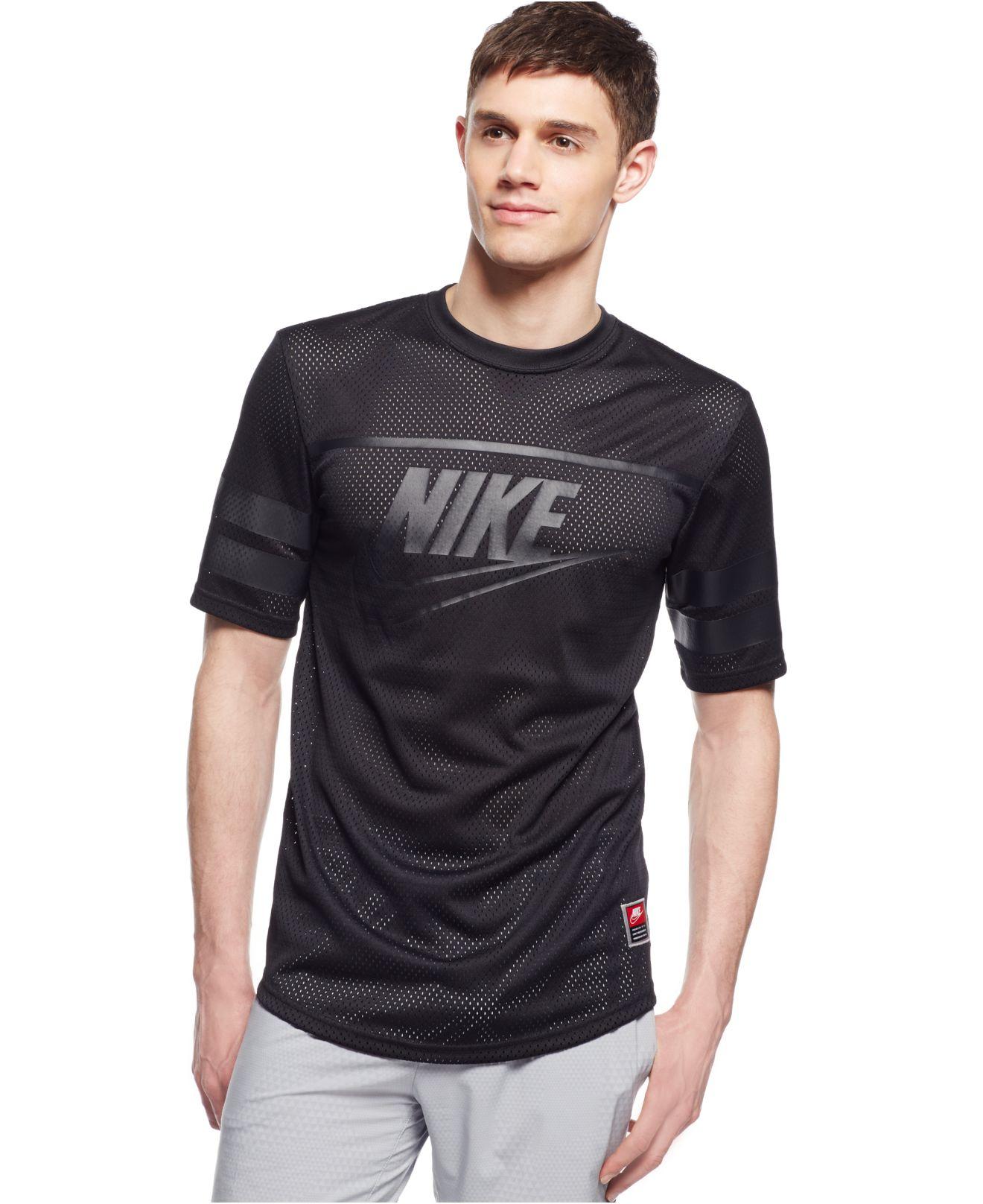 Lyst nike knows franchise mesh t shirt in black for men for T shirt printing franchise