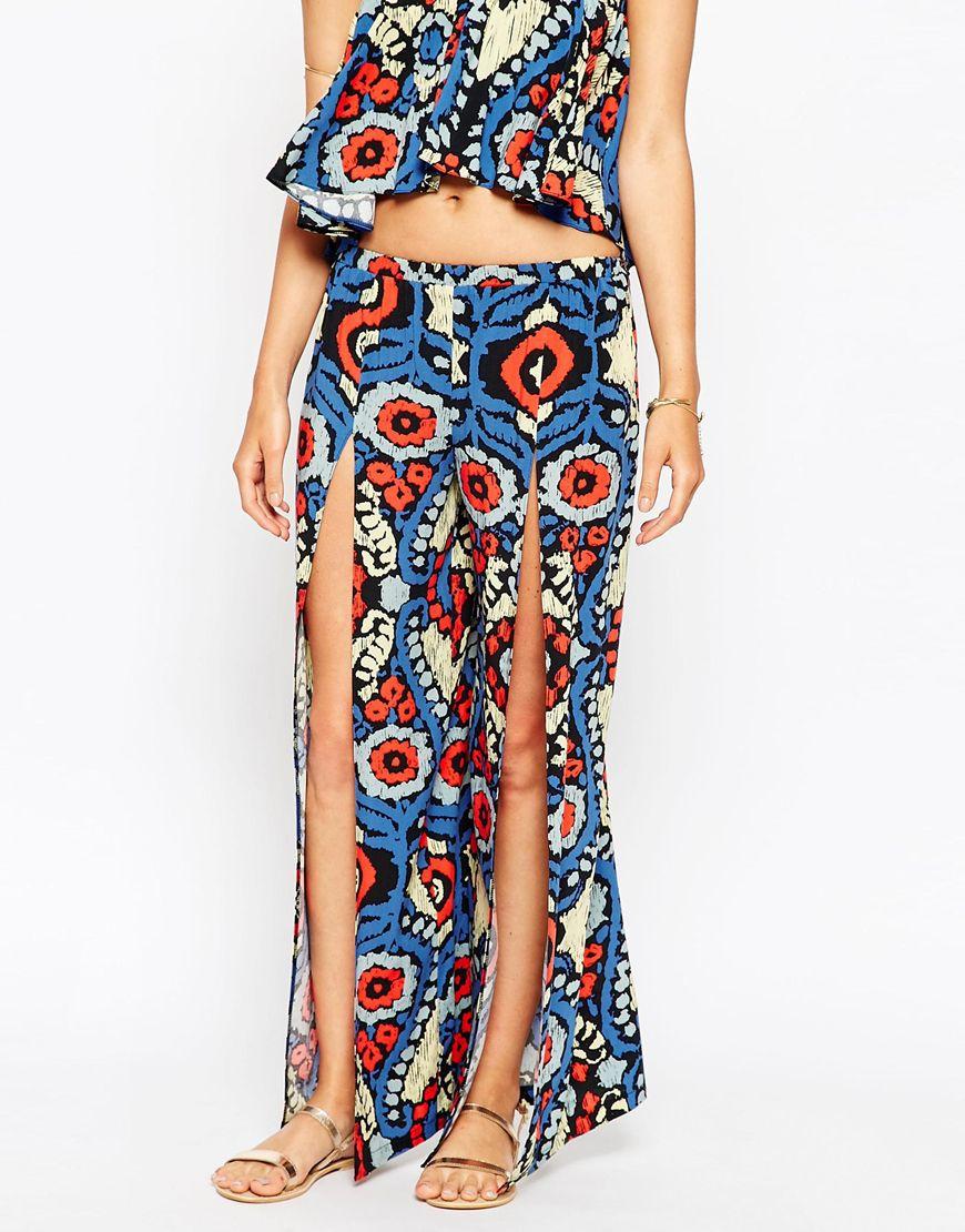21bc9e9756 ASOS Ikat Print Split Beach Trouser Co- Ords - Lyst