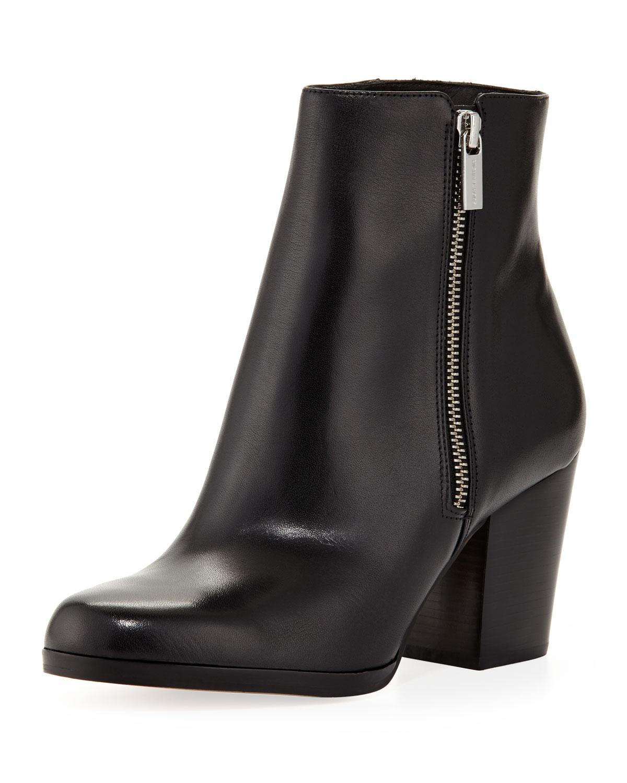 michael michael kors silvy ankle boot in black lyst. Black Bedroom Furniture Sets. Home Design Ideas