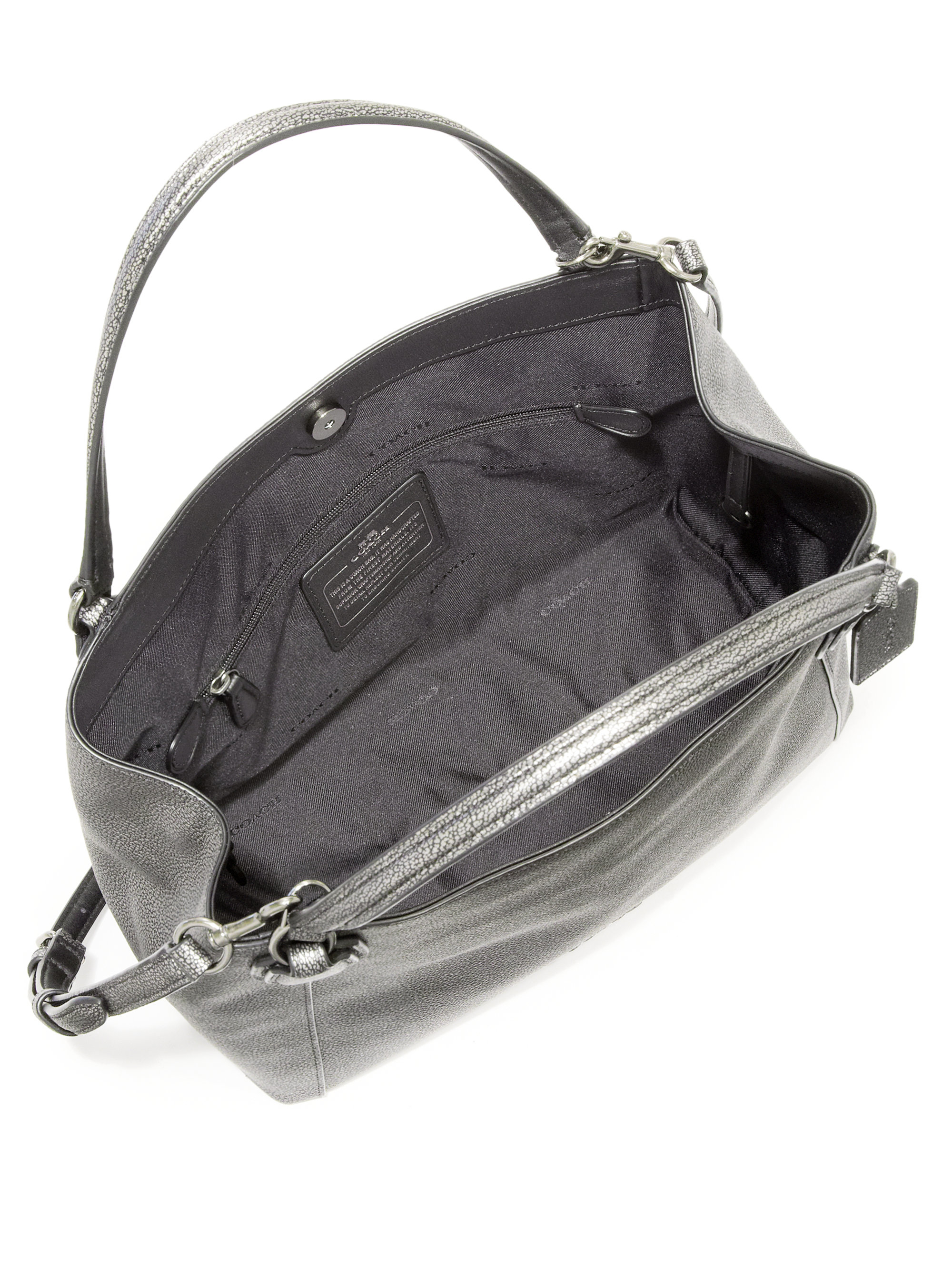 94ea98874b ... coupon code for lyst coach edie metallic pebbled leather shoulder bag  in metallic 707df 8afbd