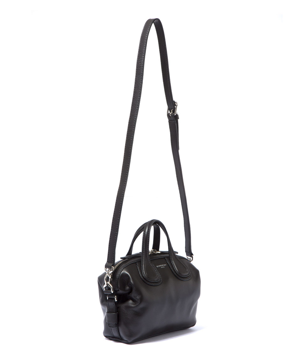 Givenchy Micro Black Nightingale Waxed Leather Bag in Black - Lyst ec0f236c3e