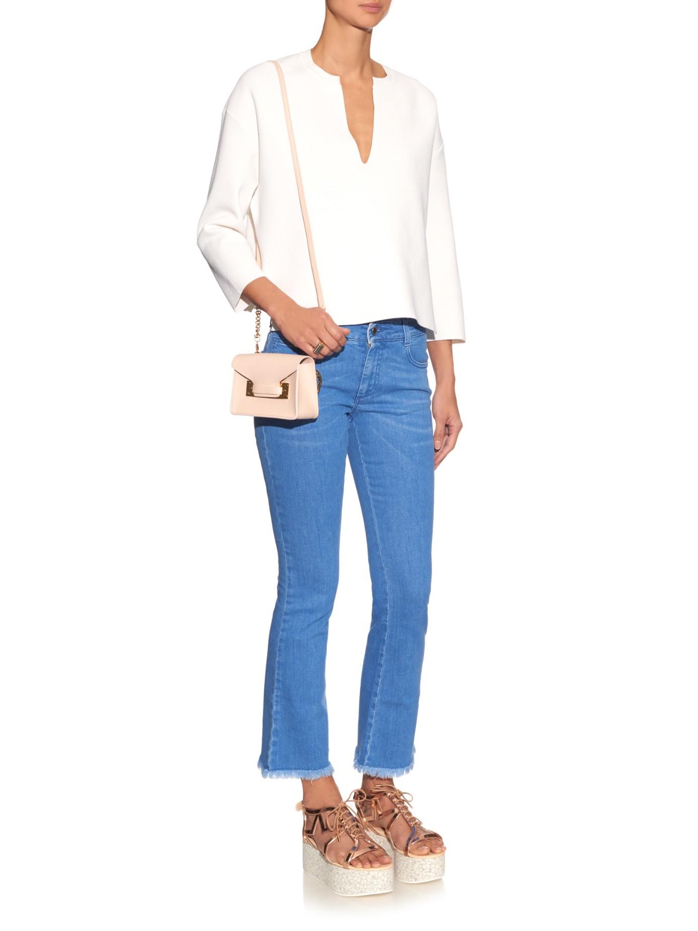 flared cropped jeans - Blue Stella McCartney lBPxF