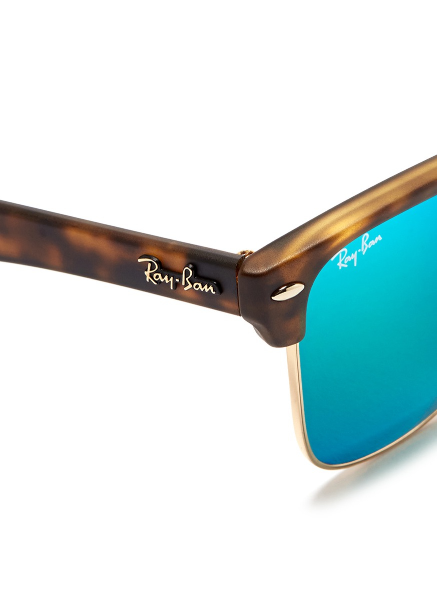 clubmaster acetate sunglasses  Ray-ban \u0027clubmaster Oversized\u0027 Matte Acetate Browline Mirror ...