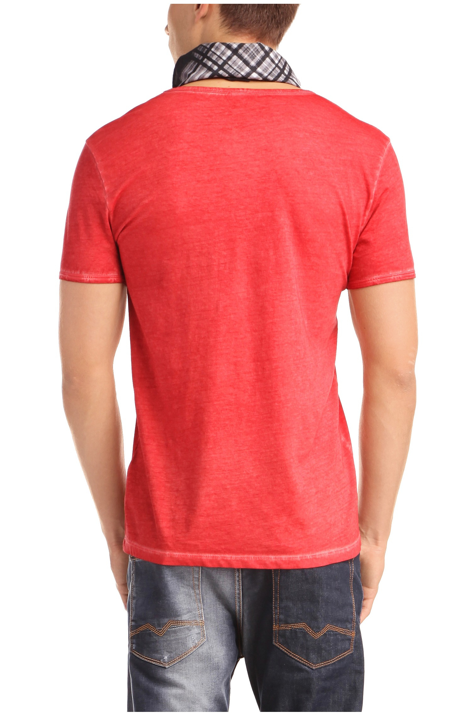 Boss Orange 39 Toulouse 39 Cotton V Neck T Shirt In Red For