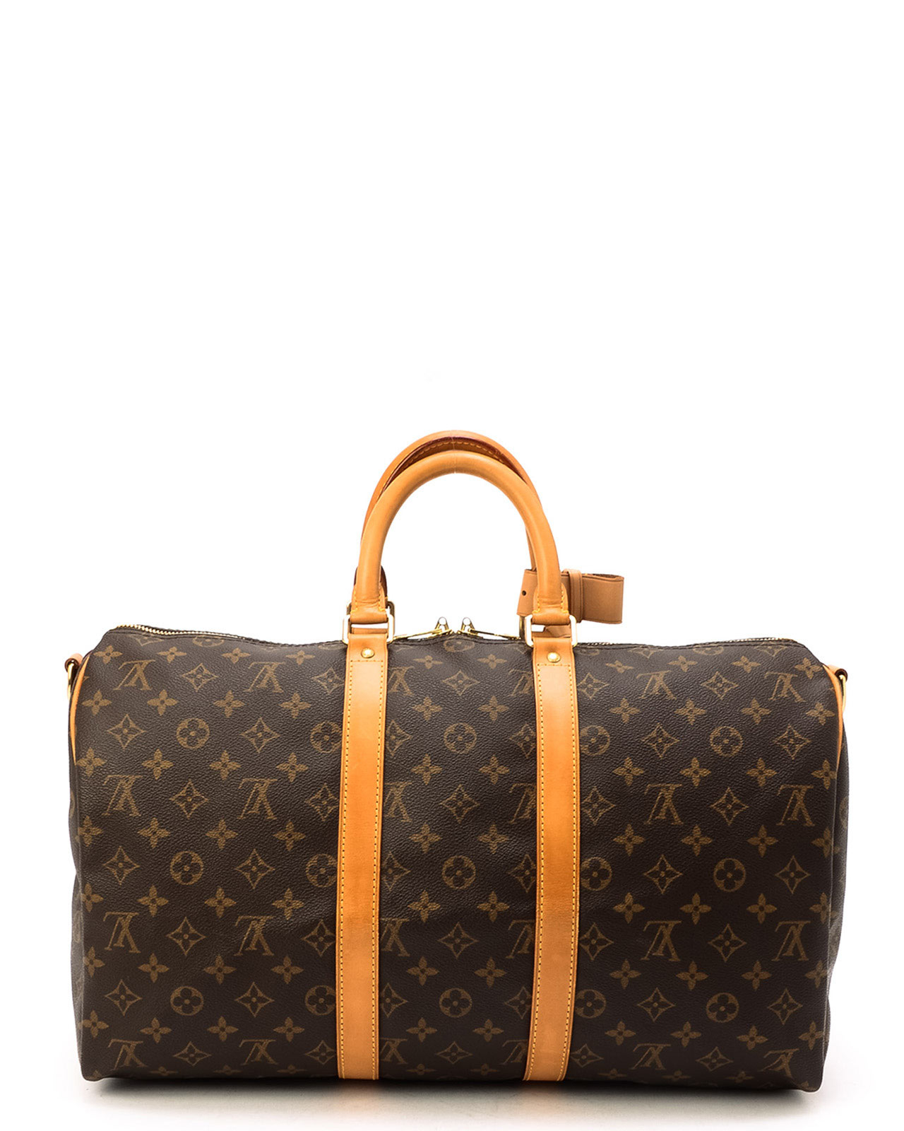 lyst louis vuitton monogram keepall 45 bandou travel bag in brown. Black Bedroom Furniture Sets. Home Design Ideas