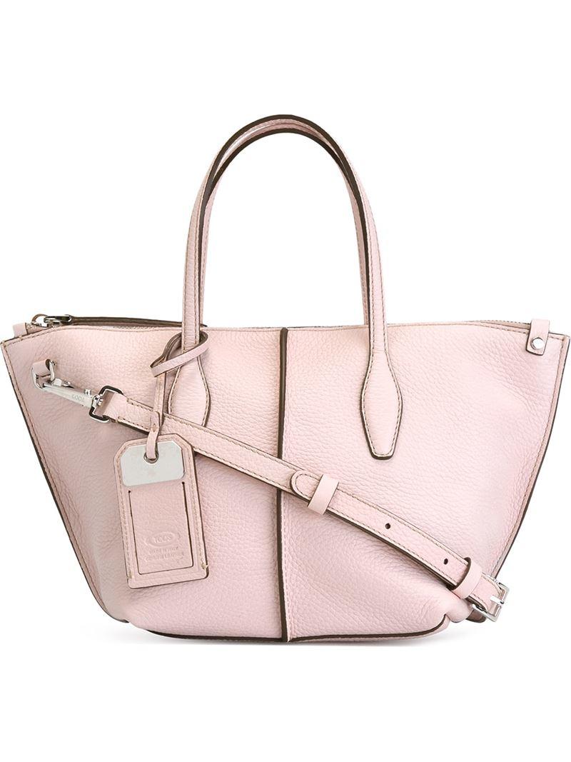 ce12ed5aa Tod's Mini 'joy' Tote in Pink - Lyst