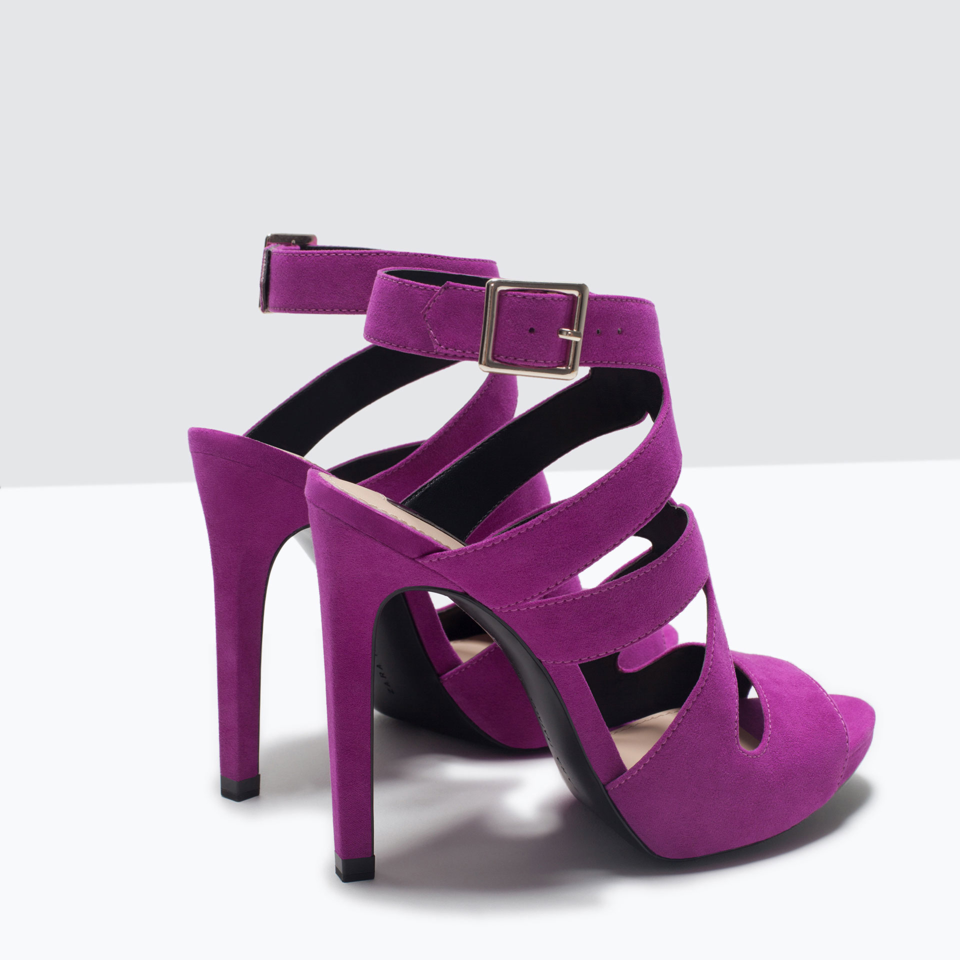 Purple Strappy High Heels