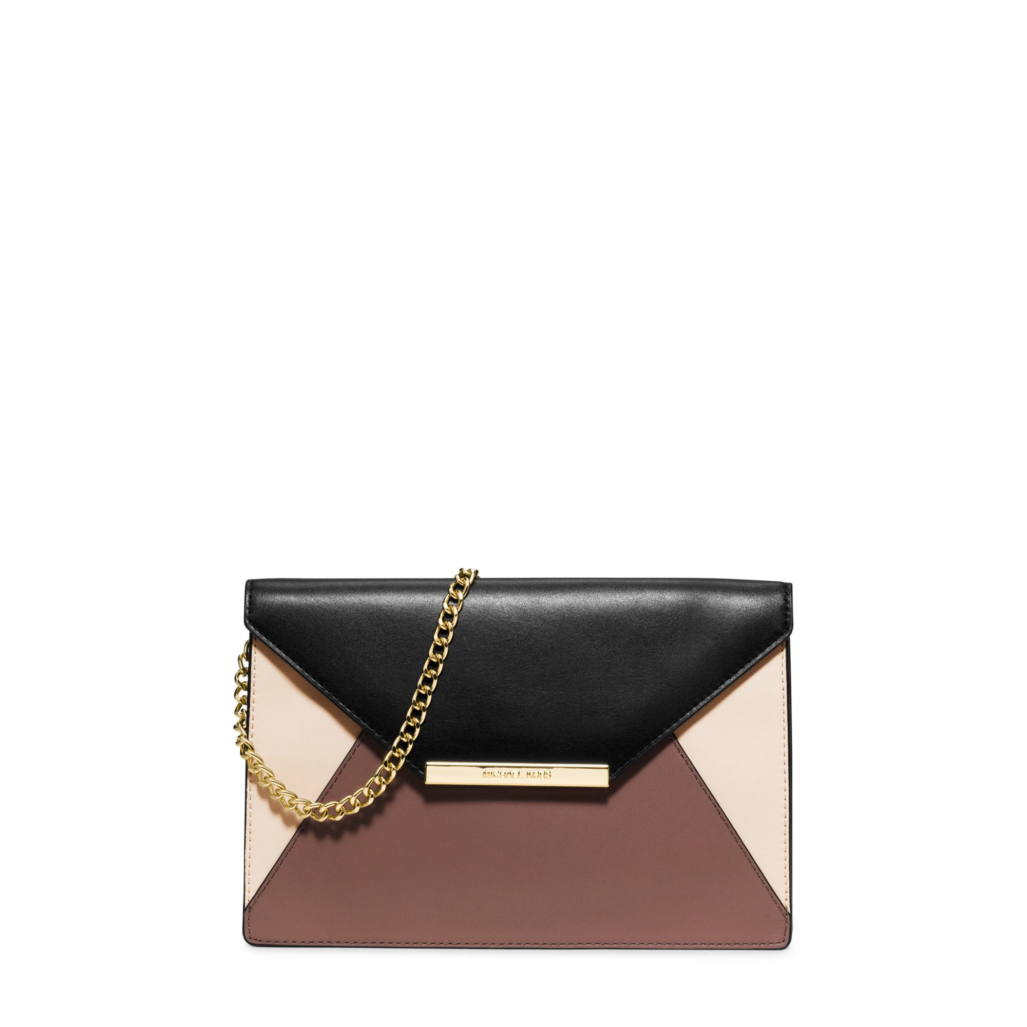 7a7ac785ecfe3b Michael Kors Lana Color-block Leather Envelope Clutch in Pink - Lyst