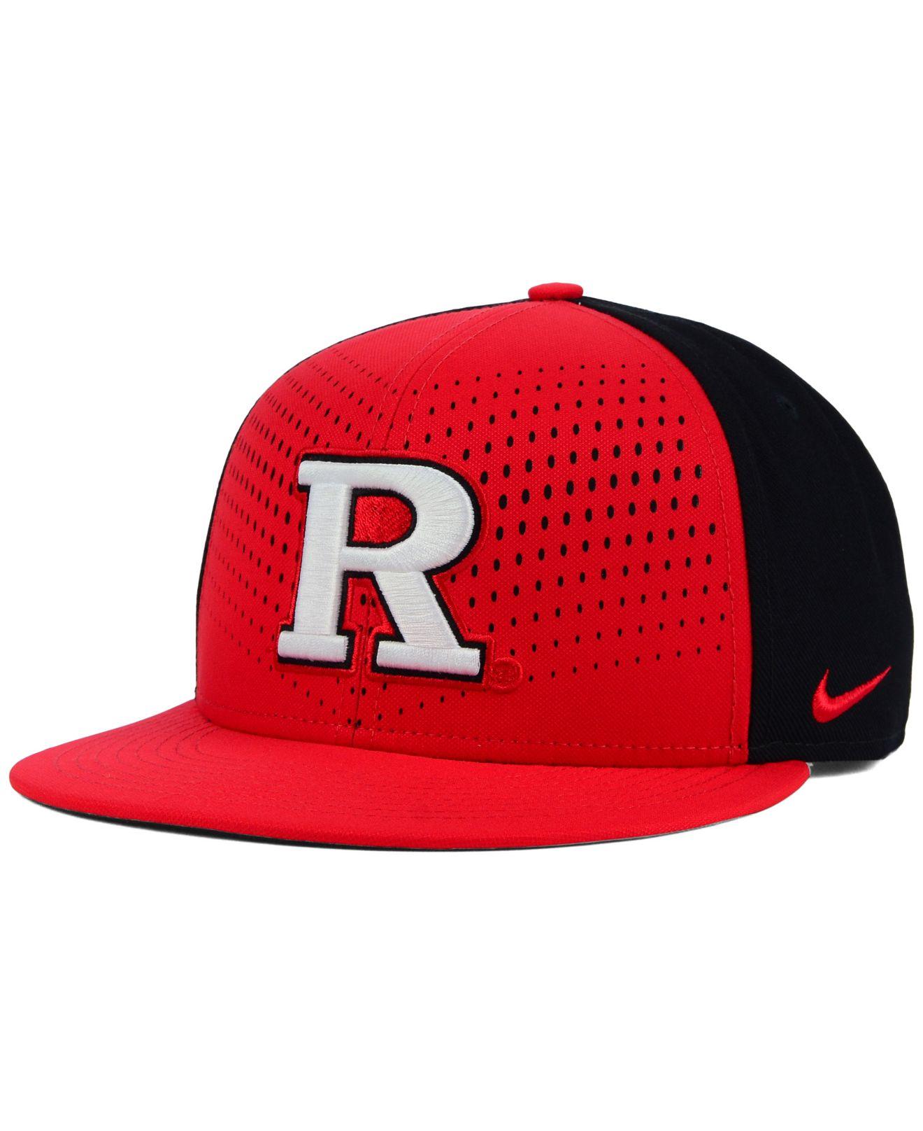 ... clearance lyst nike rutgers scarlet knights true seasonal snapback cap  in red for men 75191 d8ac3 5c6103755a05
