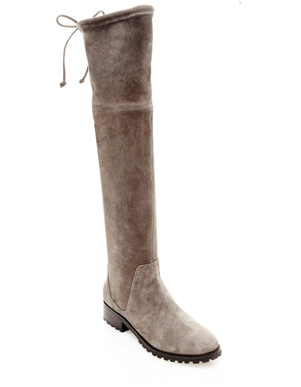 blondo snow knee high suede boots in brown lyst
