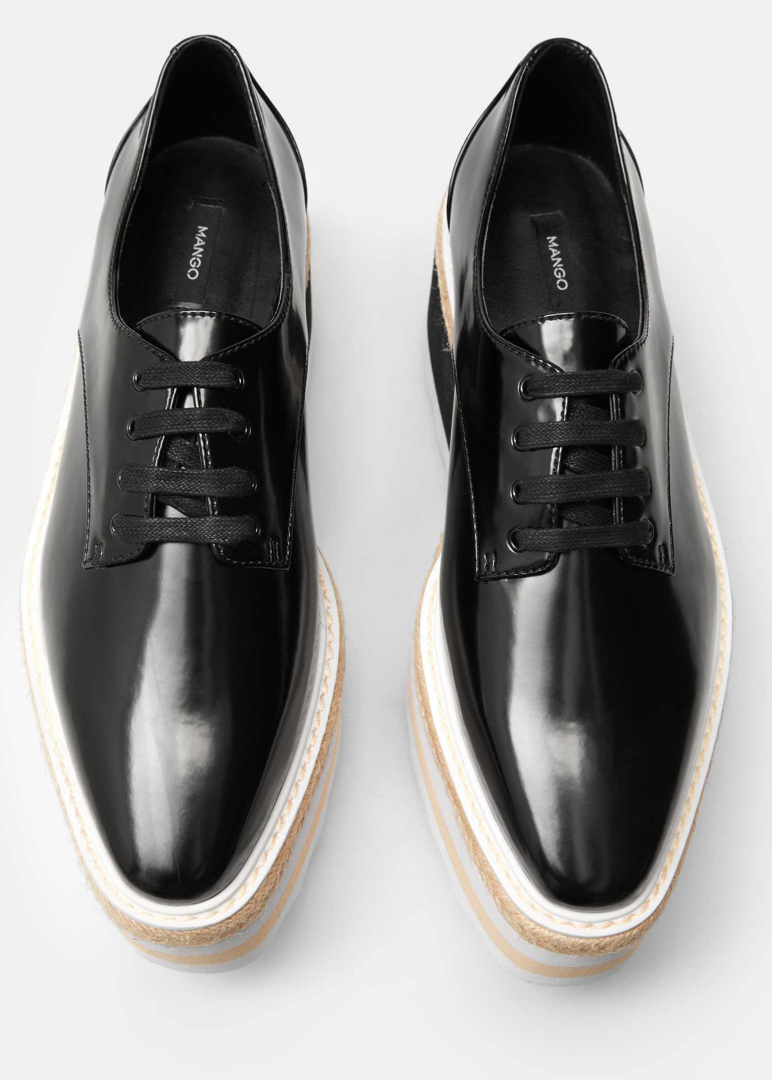 8822342e2e03 Lyst - Mango Contrast Platform Shoes in Black
