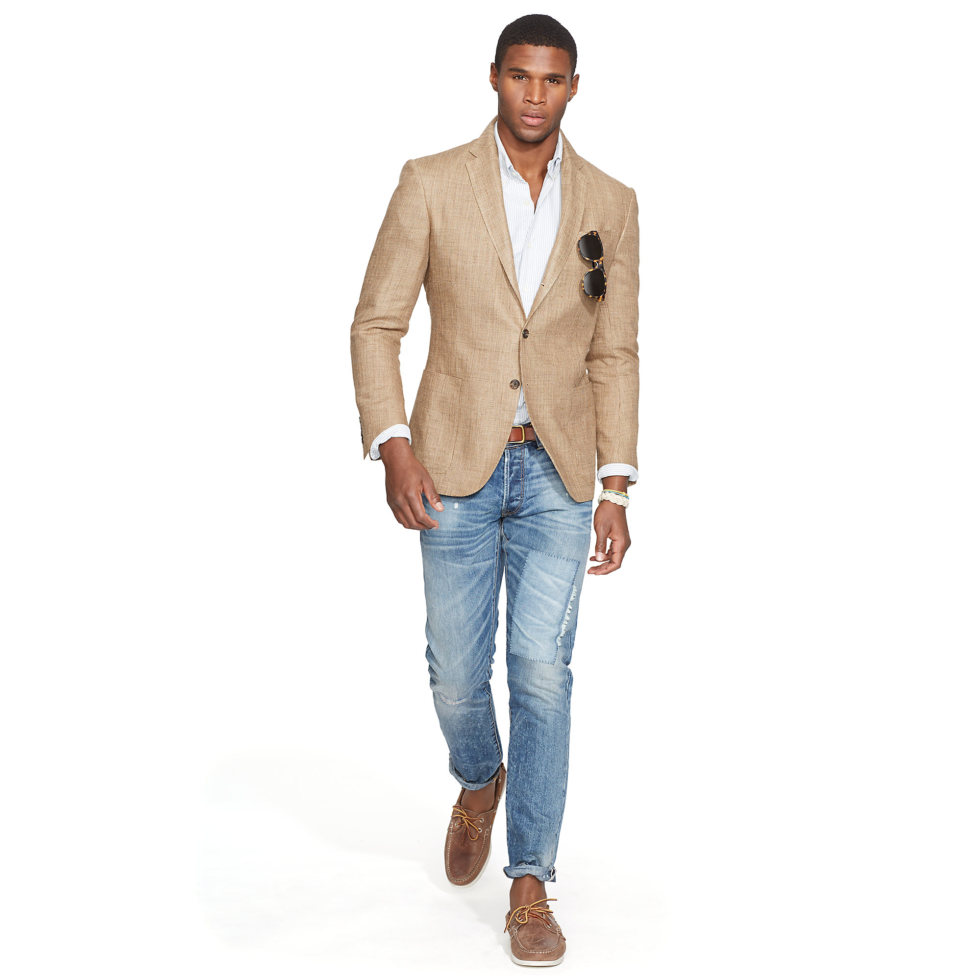 Ralph lauren Polo Tickweave Sport Coat in Brown for Men | Lyst