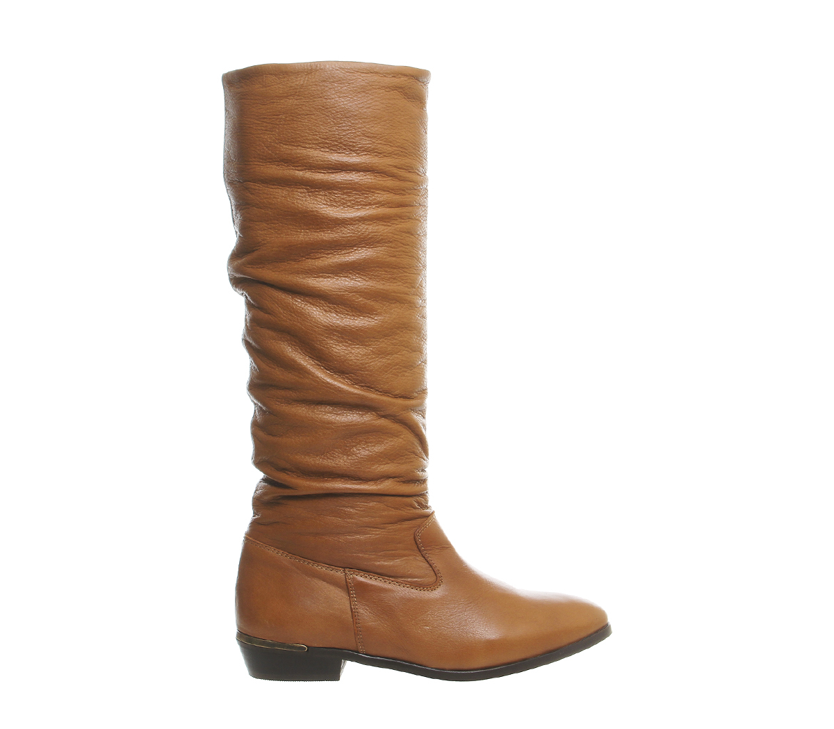 office eliza casual slouch knee boots in brown save 16
