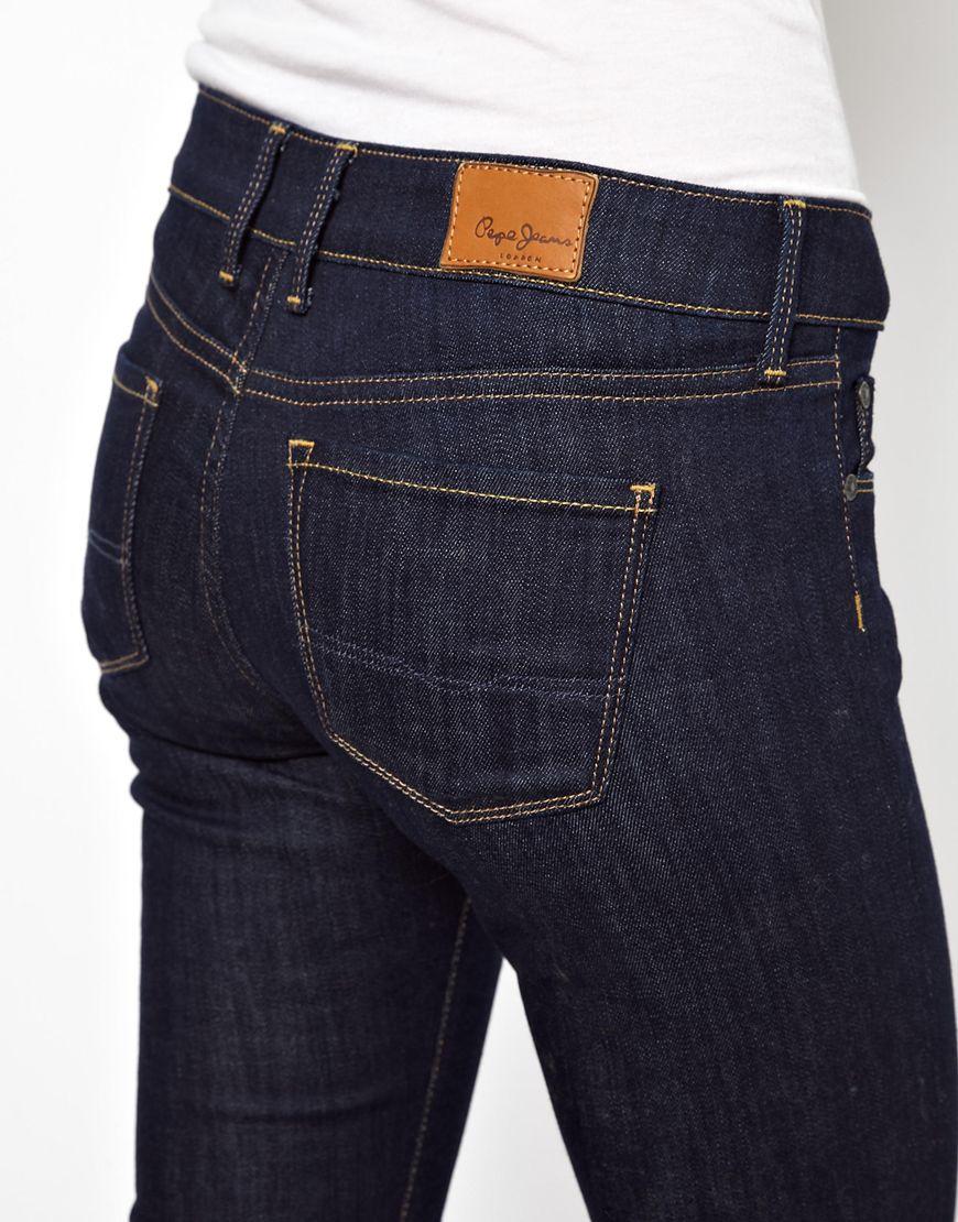 pepe jeans pepe jean soho skinny jeans in blue lyst. Black Bedroom Furniture Sets. Home Design Ideas