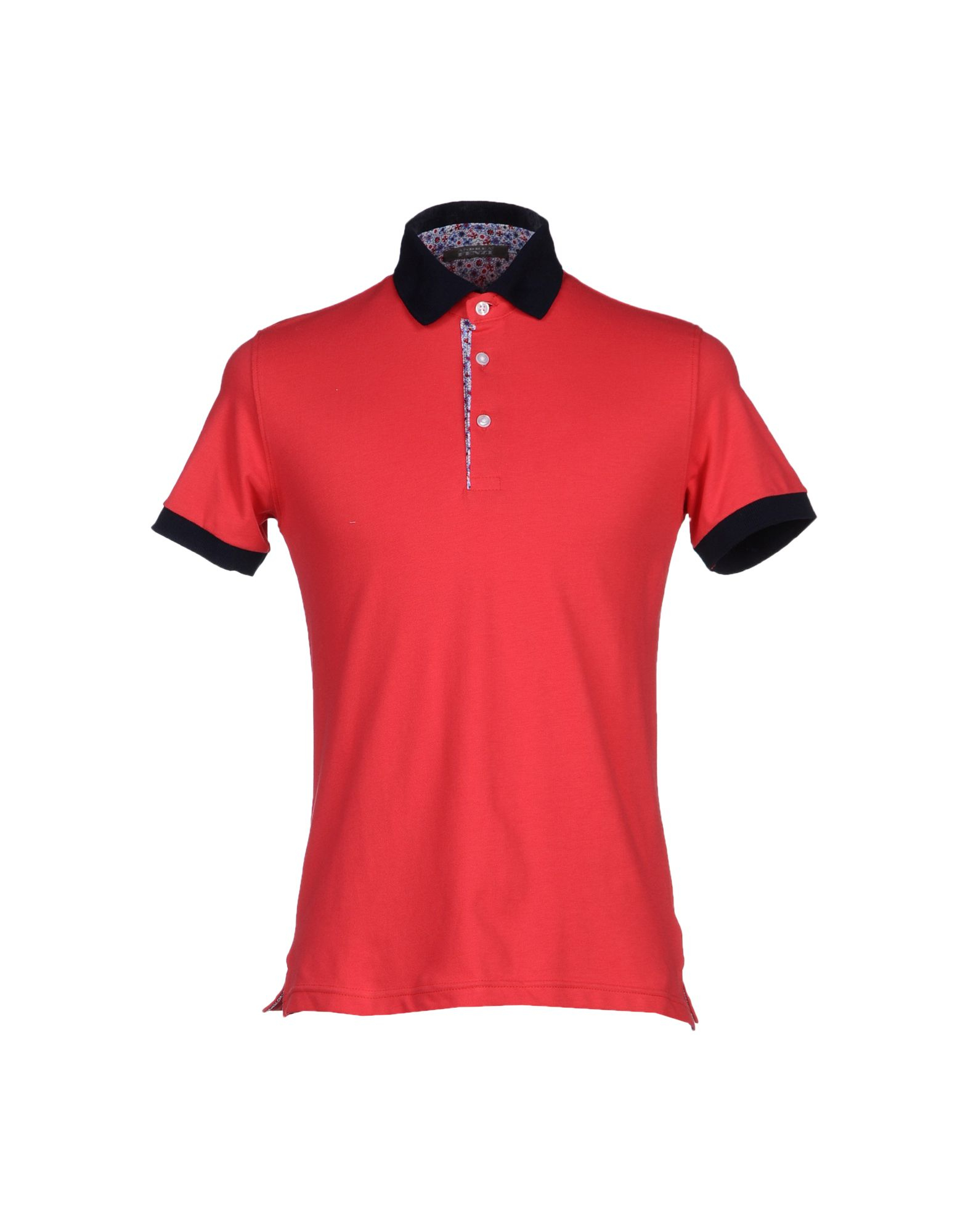 Andrea fenzi polo shirt in red for men lyst Man in polo shirt