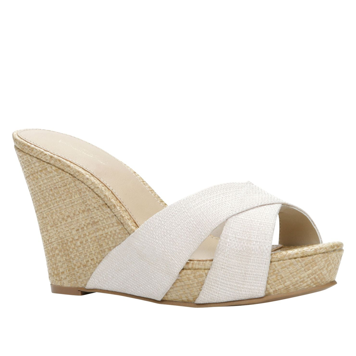 aldo santeramo wedge espadrille sandals in white