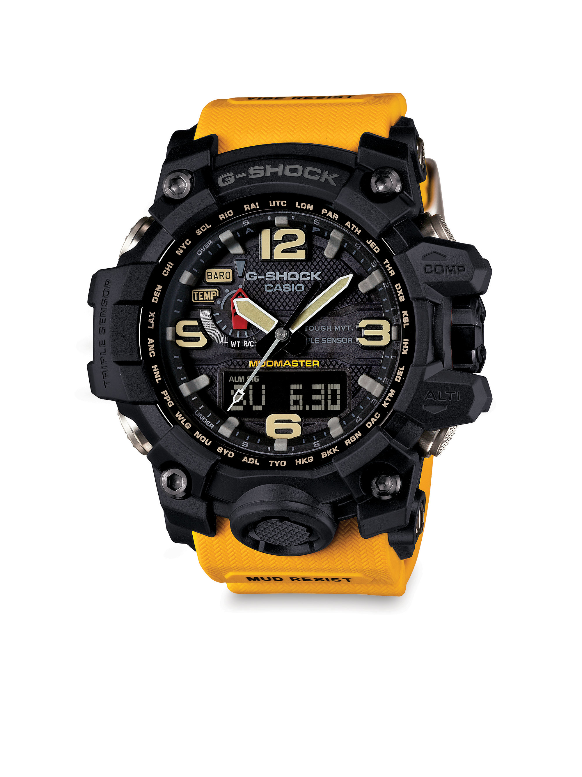 G Shock Master Of G Analog Digital Watch In Black For Men