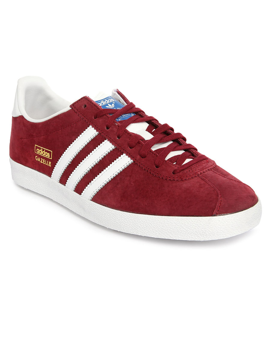Adidas Originals Gazelle Og Leather Navy/Maroon