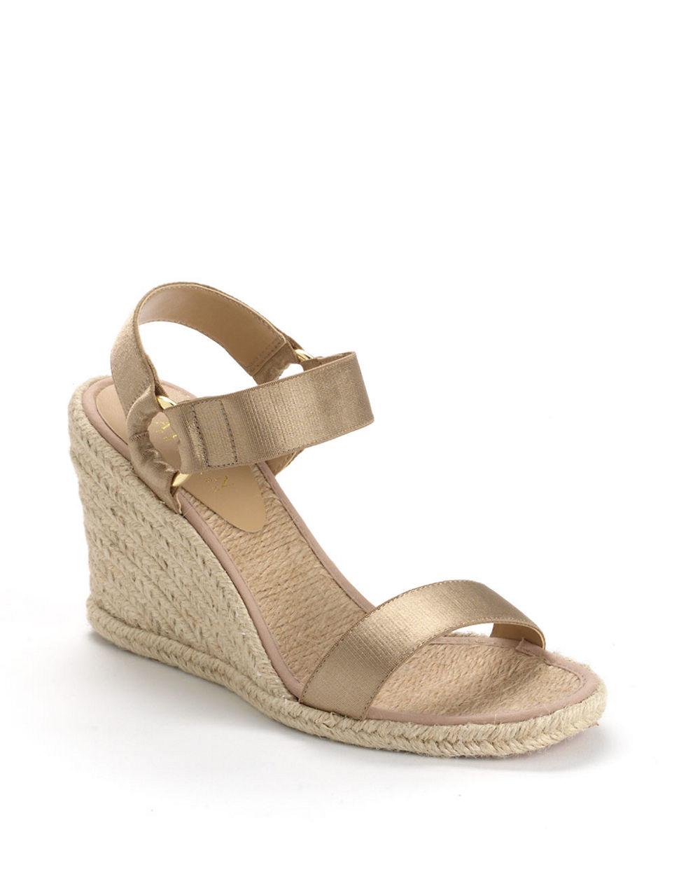 lauren by ralph lauren indigo banded espadrille wedge sandals in natural lyst. Black Bedroom Furniture Sets. Home Design Ideas