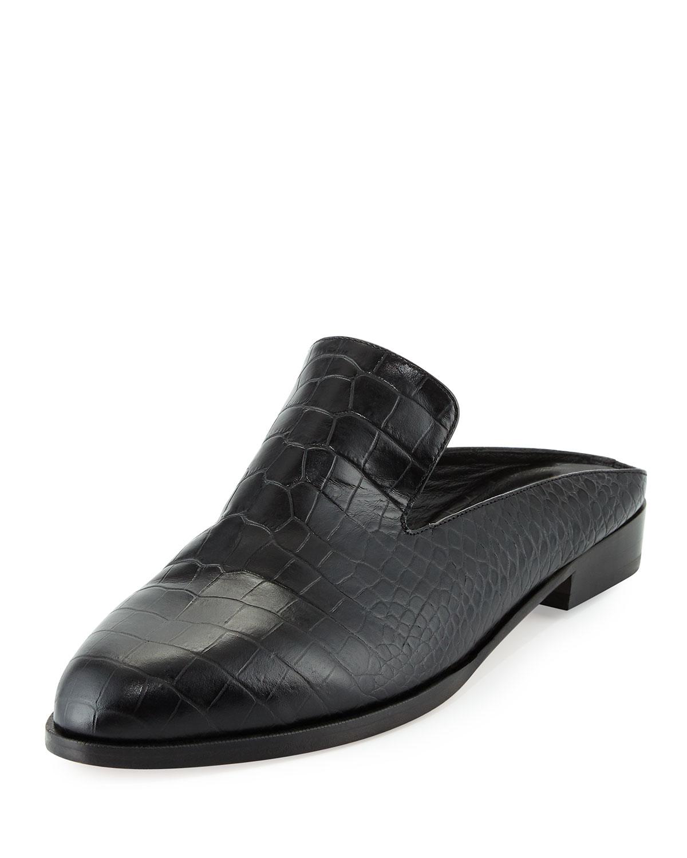Alicen Metallic Leather Mule Flats Robert Clergerie BoX1xvnZp5
