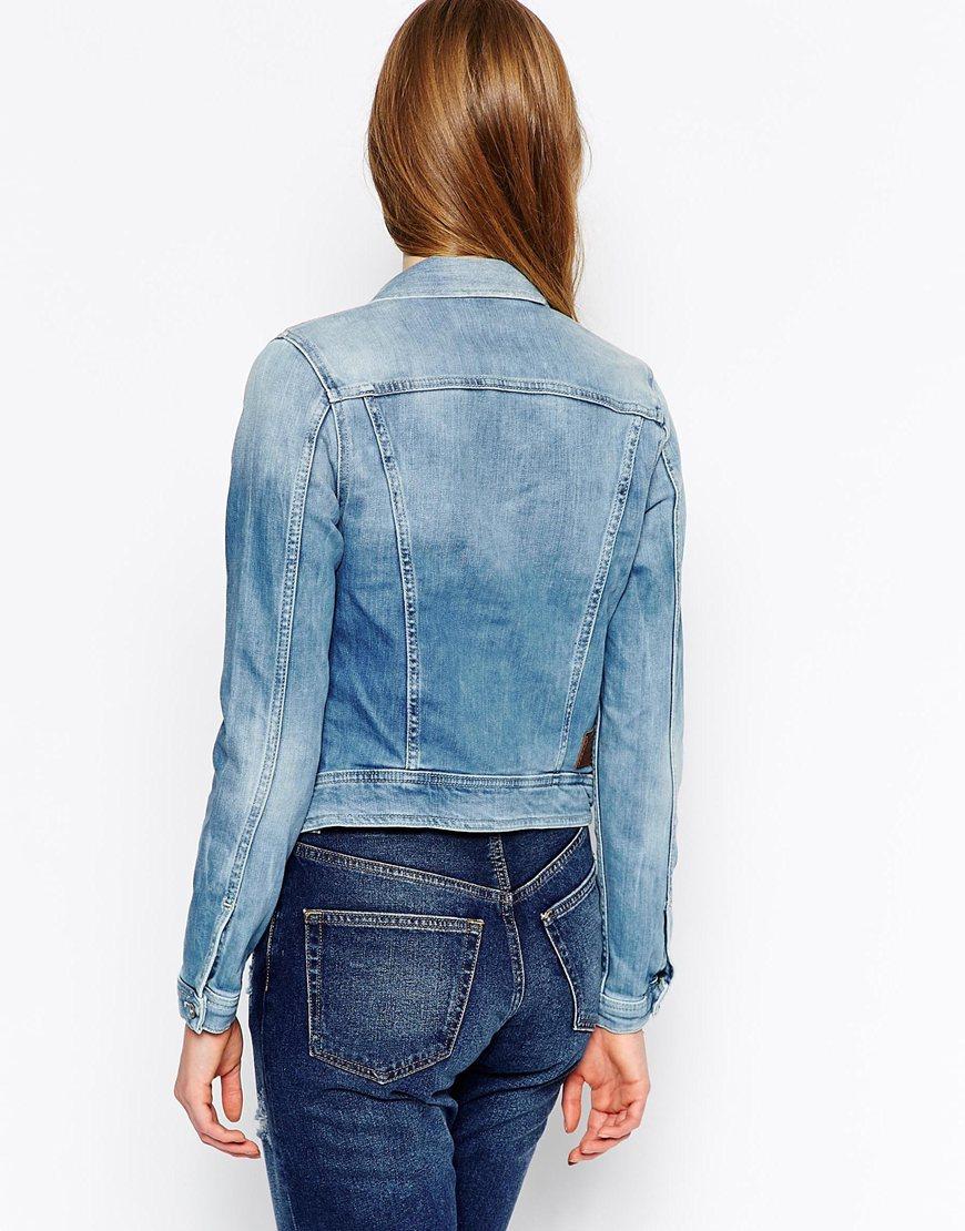 pepe jeans denim jacket in blue lyst. Black Bedroom Furniture Sets. Home Design Ideas
