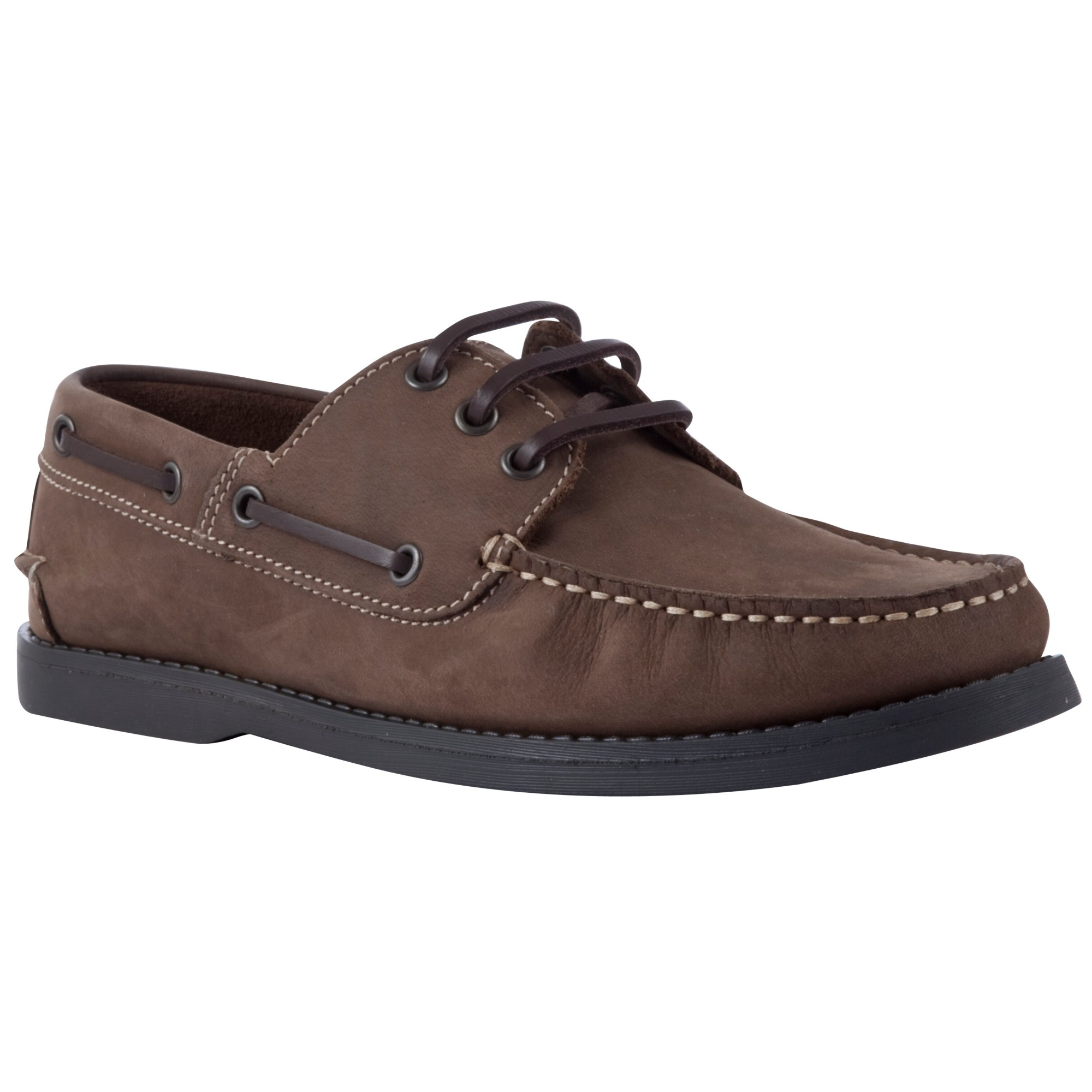John Lewis Leather Boat Shoes In Brown For Men Lyst