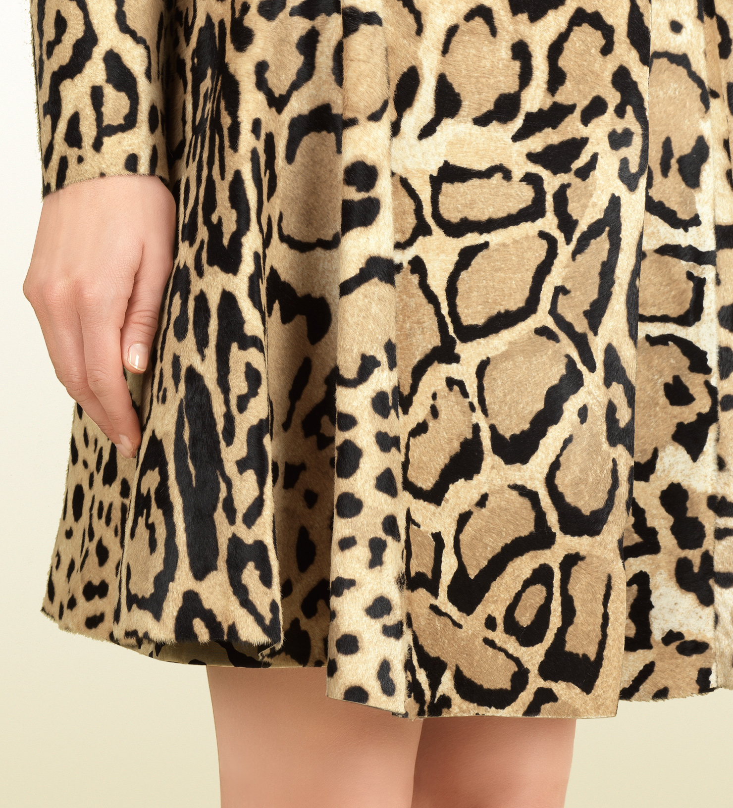 28b1e59ca40e Gucci Leopard Print Calf Hair Coat - Lyst