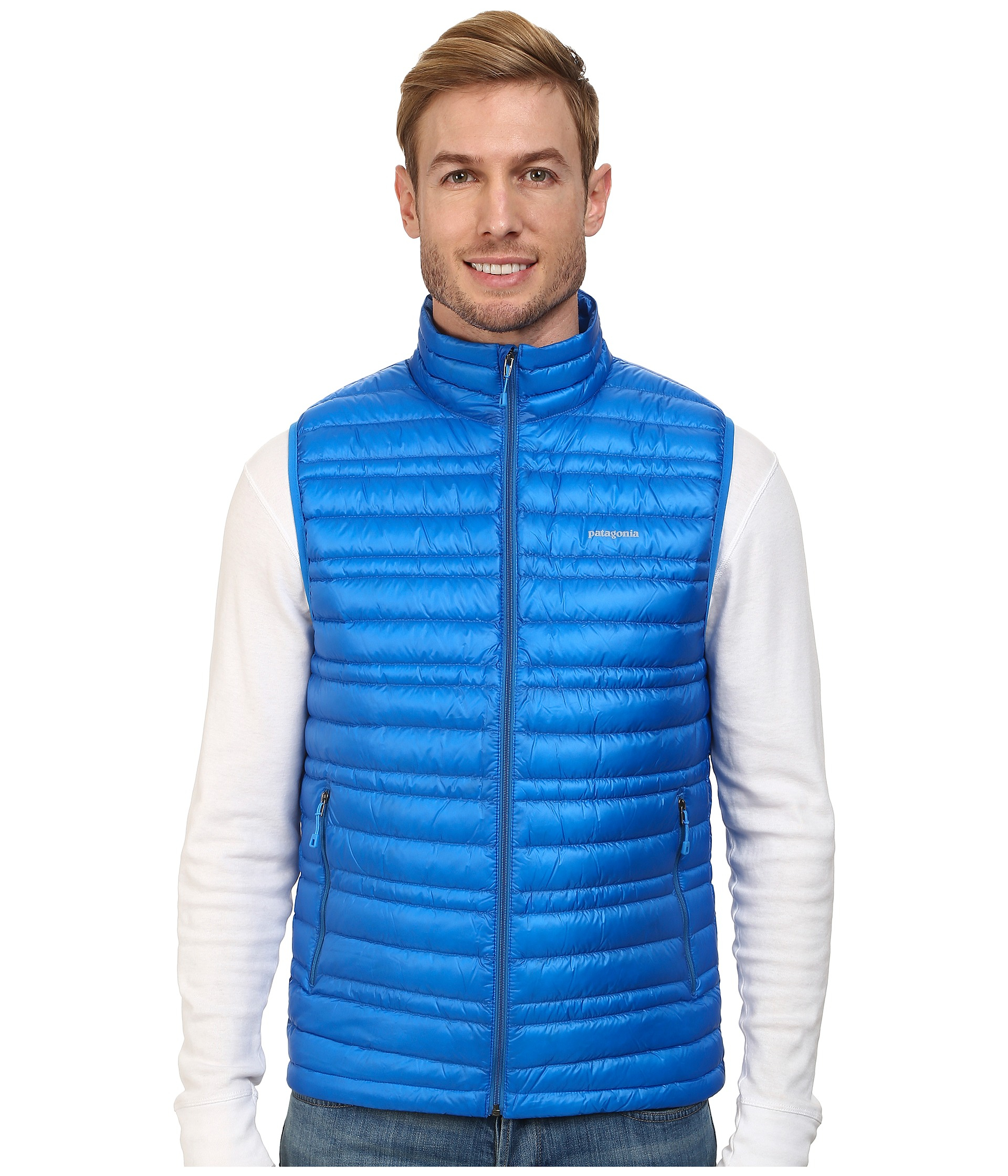 Patagonia Ultralight Down Vest in Blue | Lyst
