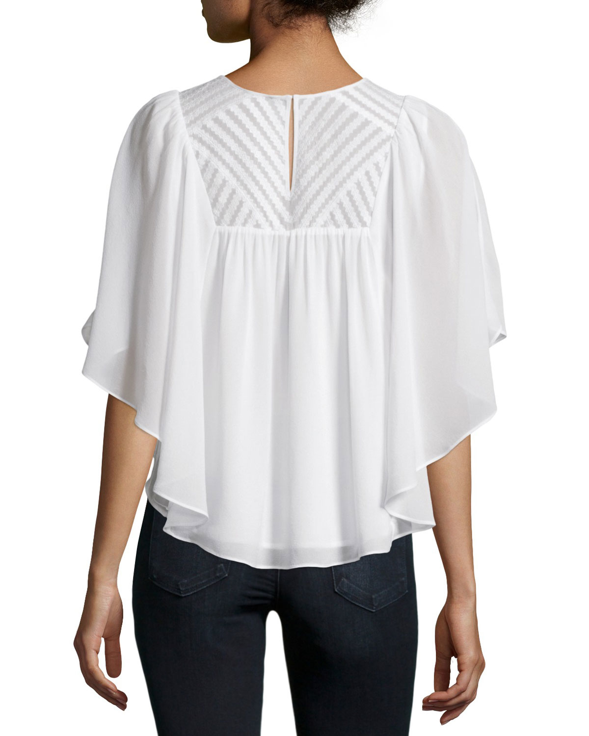 4edfacdd326 Lyst - Joie Patel Embroidered Flowy Top in White