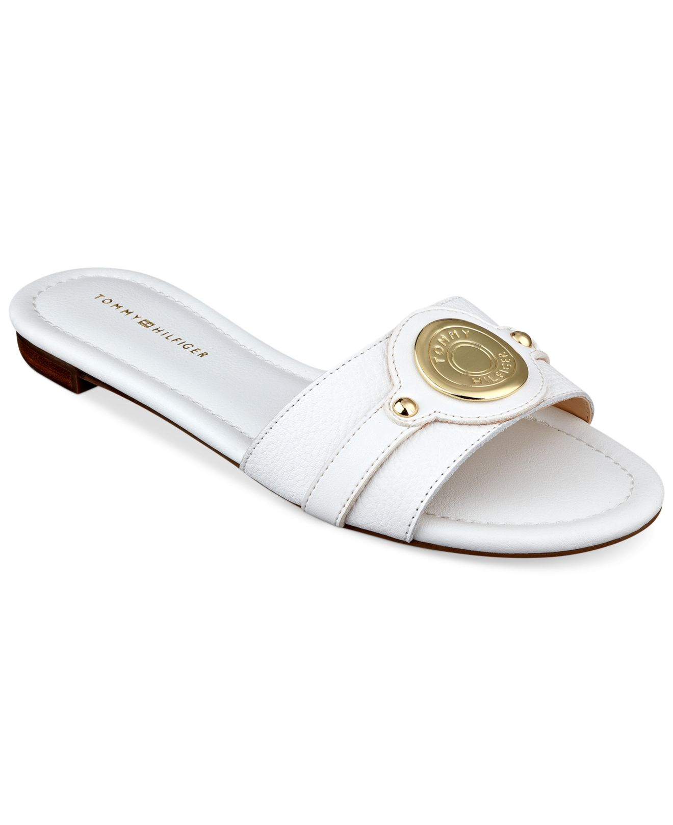 31d439e55 Lyst - Tommy Hilfiger Women s Icela Slide Sandals in White